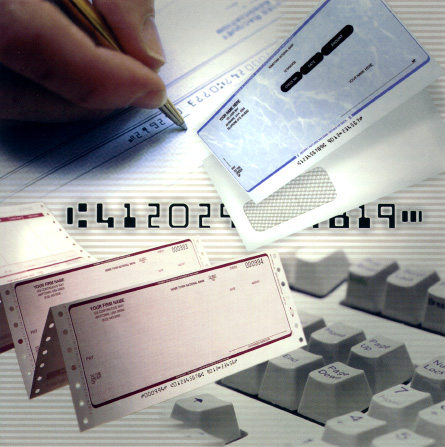 Business Laser Checks, Continuous Checks and Forms, Manual Business Forms, Labels, One-Write Checks and Systems, Medical Forms, Tax Forms, Pressure Seal Mailer Forms and Equipment, Blank Forms Stock, Envelopes, Custom Stamps